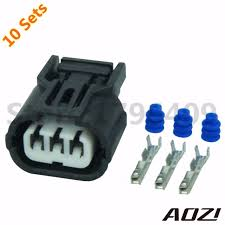 10 sets auto wiring connector 6189 0887 for car parts 1 2mm 2 wire connector plug at Car Wiring Connectors
