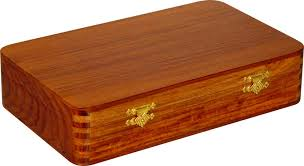 flat chess box image in golden rosewood with teak top