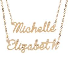 details about fashion women men choker custom name pendant chain customized nameplate necklace