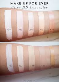 the beauty vanity make up for ever ultra hd invisible cover concealer review swatches