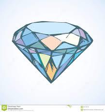 алмаз эскиз вектора иллюстрация вектора иллюстрации насчитывающей