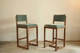 mid century modern bar stools. Walnut Brass Mid Century Modern Bar Stool Stools I