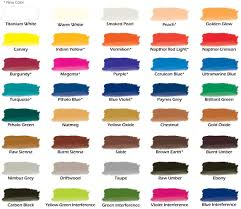 Umber Color Chart Chroma Airbrush Paint New Color Chart With More Colors Added