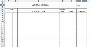 Bookkeeping Journal Template Template For Accounting General Journal Resume Pdf Download