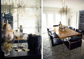 perfect black leather chairs rustic decor and a polished wooden table create a chic with styl modern glamour perfect modern living room