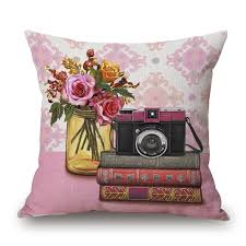 pillow radio. aliexpress.com : buy vintage style phone typewriter radio camera flowers home decor cushion linen cotton pillow sofa cushions decorative throw from w