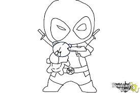 Small Picture How to Draw Chibi Deadpool DrawingNow
