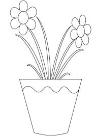 Disegno Di Fiori Nel Vaso Da Colorare Disegni Da Colorare E