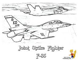 Small Picture Fierce Airplane Coloring Pictures Military Jets Free Airplane