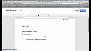 how to set up a document in mla format in google docs how to set up a document in mla format in google docs