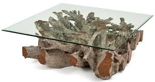 Teak Root Coffee Table · Twisted Cocktail Table