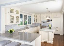 good looking grey countertops kitchen with white cabinet