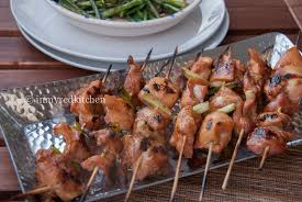 Asian chicken on a stick