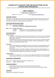 High School Student Resume First Job Math My First Resume Template