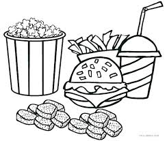 Healthy Coloring Pages Unhealthy Food Coloring Pages Healthy Foods