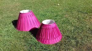 2 x laura ashley silk lamp shades