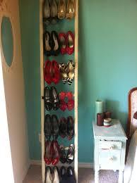 Ladder shoe racks.