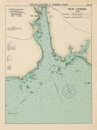 New London Ct Colored Nautical Chart