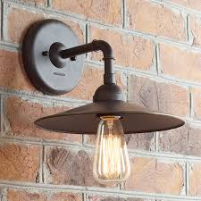 industrial pipe lighting. Industrial Pipe Inspired Wall Sconce-Small Olde_bronze Lighting T