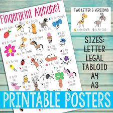Alphabet Chart Pdf Download Fingerprint Alphabet Posters Pdf Download
