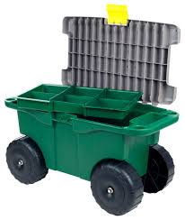 20 plastic garden storage cart and scooter by pure garden traditional utility carts by trademark global