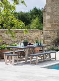 garden dining table with benches. the stunning chilson table and bench set adds a classic but contemporary look to any garden dining with benches i