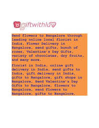 send flowers to bangalore through leading local florist in india