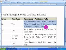 ms access tutorial in bengali part 3 salary sheet table creation ms access tutorial in bengali part 3 salary sheet table creation and validation rule