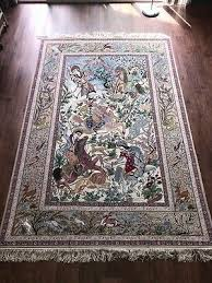 fine persian rug hand knotted isfahan silk warp pictorial rug 5 1 x 7 7 ft