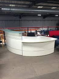 desks curved reception desk used cream office furniture desks uk