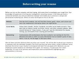 Technical Consultant Resume Sample 2 3 Before Writing Your Resume