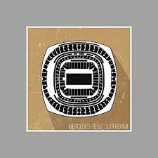 Amazon Com Artsycanvas Mercedes Benz Superdome Football
