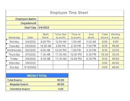 Employee Time Clock Calculator Excel Timesheet Calculator Step 3 Enter Employee Dates Times