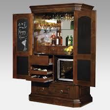 Modish Wine Rack For Vintage Chocolate Brown Glossy Polished Mahogany Wood Bar  Cabinet Along With Bar