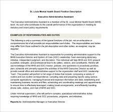 12+ Administrative Assistant Job Description Templates – Free ... Free Executive Administrative Assistant Job Description Sample PDF Template