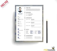 Resumes Print Modern Resume Templates Free Download Psd Clean