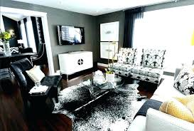small cowhide rug black salt pepper interior patchwork brown white and faux rugs australia