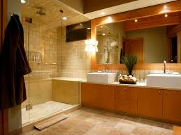 large lighting fixtures. tile floors and vanity cabinet with double sink also large mirror bathroom lighting fixtures o