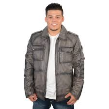 men s 32 inch patch pocket jacket with shirt collar and padded elbows