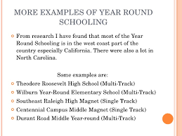should school be year round  11 more examples of year round