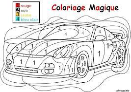 Coloriage Magique Voiture De Course Facile Simple Maternelle
