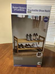 new better homes garden 2 tier stackable shoe rack bamboo for in houston tx offerup
