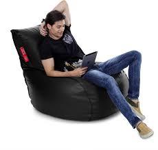 black leather bean bag sofa fy export quality