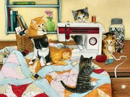 Kitten Quilting Bee F2mp - Cats & Animals Background Wallpapers on ... & Kitten Quilting Bee F2mp Adamdwight.com
