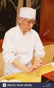 Sushi Cook Japanese Sushi Chef Working Stock Photo 92400745 Alamy