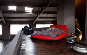 impressive designs red black. Bedroom:Fascinating Red Bedroom Inspiration With Unique Chair And Wooden Floor Design Idea Fascinating Impressive Designs Black
