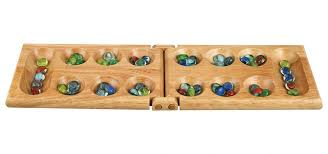 Wooden Game With Marbles Amazon Melissa Wood Folding Mancala Board Game 100100 Inch 8