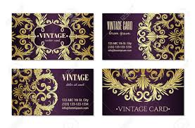 Fancy Designs For Cards French Baroque Style Elegant Ornate Visiting Cards Luxurious
