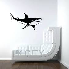 animal wall art stickers white shark sea ocean animal wall art sticker vinyl decal cut kids room nursery stencil animal wall decor stickers