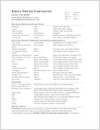 Best Opera Resume Template 199143 Resume Template Ideas